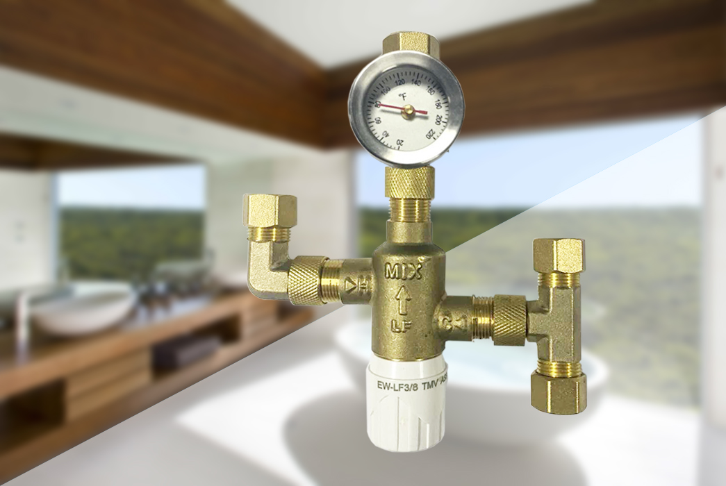 Edison dual thermostatic mixing valve supplier for hardware store-1