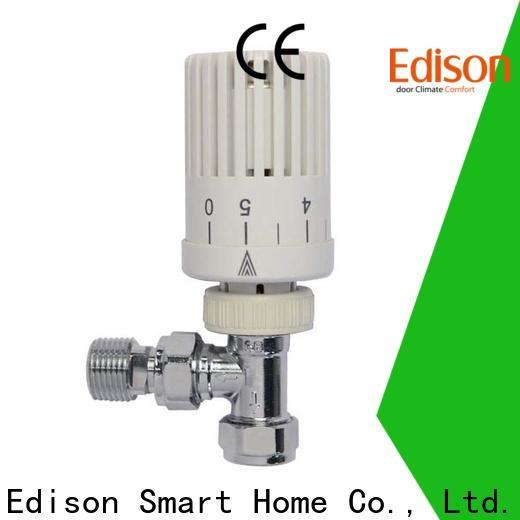 Edison angle corner radiator valves manufacturer for villas