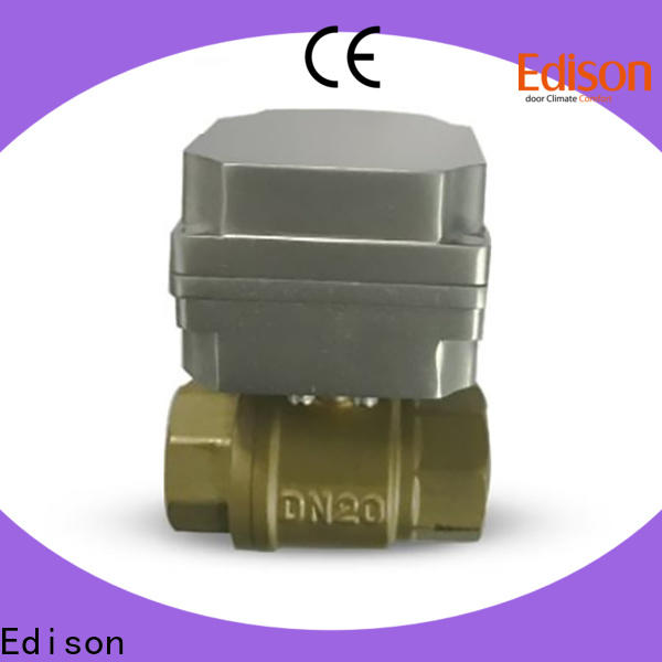 Edison ball motorised ball valve with high-temperature resistance for shop
