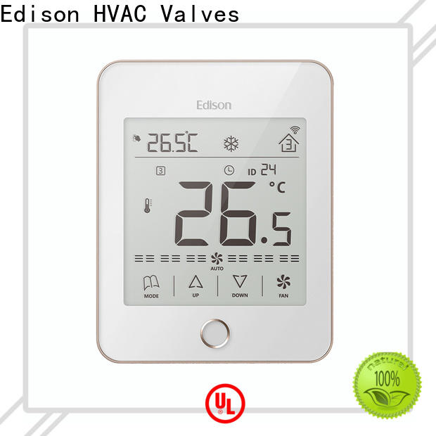 Edison durable room thermostat manufacturer for villas