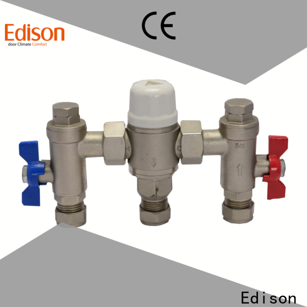 Edison durable tempered water control valve wholesale for shopping malls