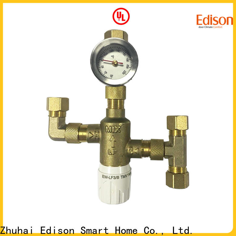 Edison dual thermostatic mixing valve supplier for hardware store
