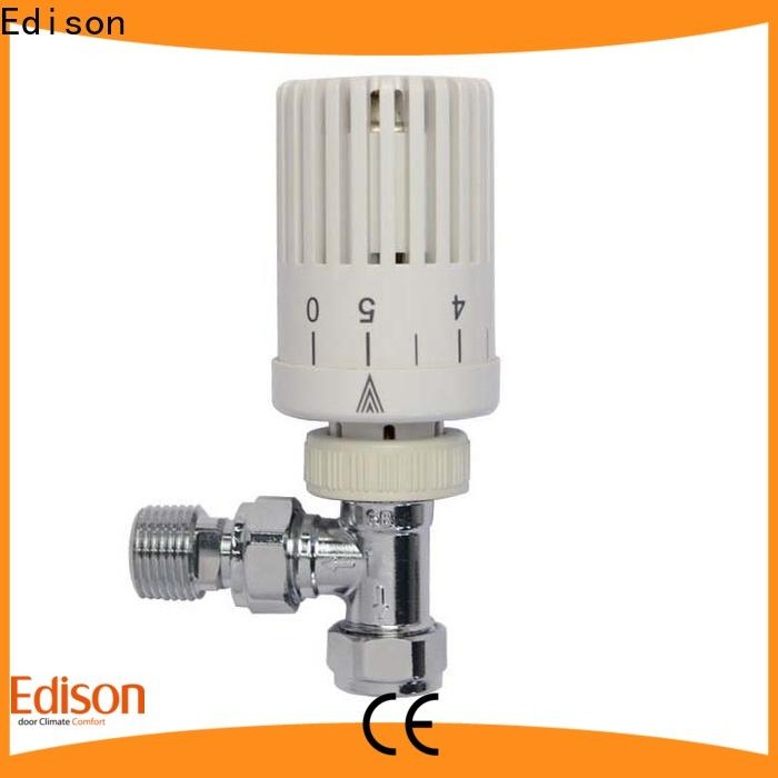 Edison high quality trv radiator valves manufacturer for villas