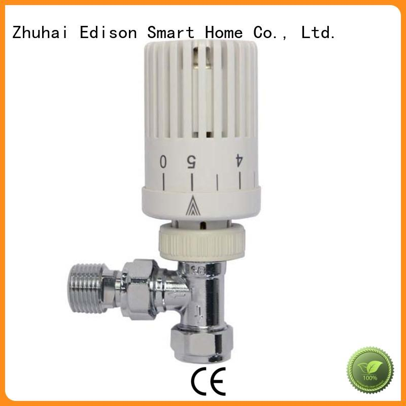 Edison thermostatic angled radiator valves wholesale for villas