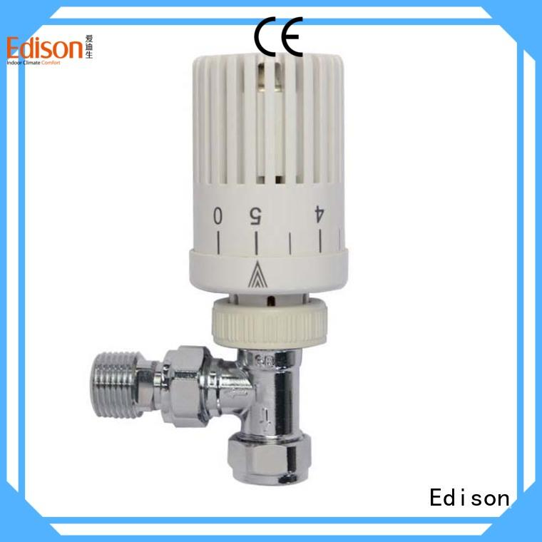 Edison straight fitting thermostatic radiator valves series for larger family homes