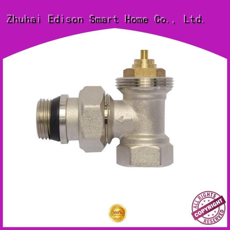 Edison twin chrome radiator valves manufacturer for larger family homes