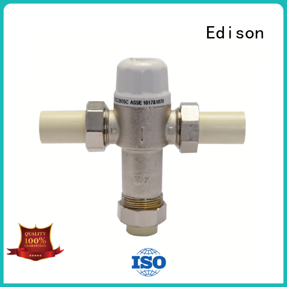 Edison thermostatic hot water tempering valve mini for hardware store