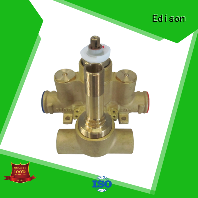 Edison thermostatic shower temperature control supplier for shopping malls