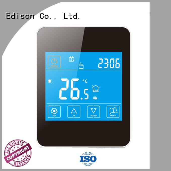 black comfortable wireless heating controls safety ac Edison Brand