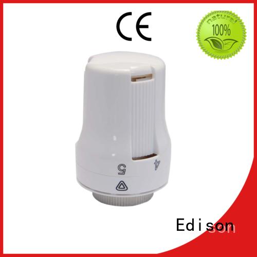 Edison Brand knob pack angle thermostatic radiator valve manufacture