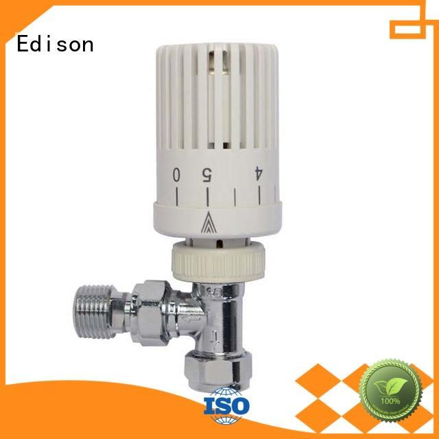 Edison durable chrome thermostatic radiator valves series for shopping malls