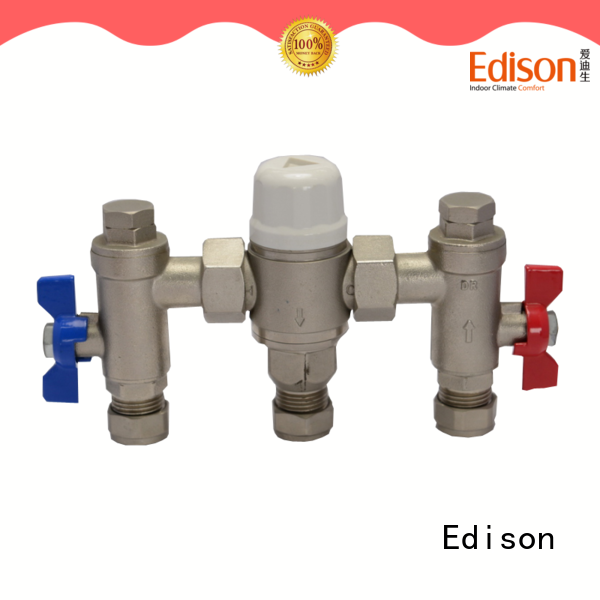 Edison pex thermostatic mixing valve series for hardware store