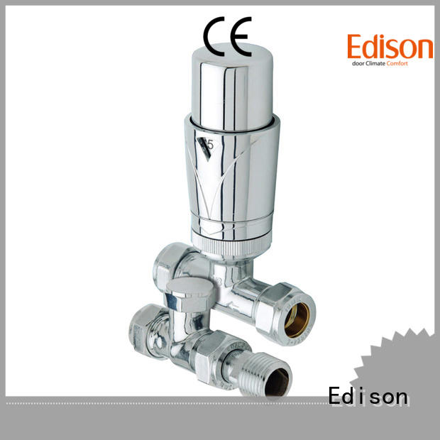 Edison straight radiator control valve angle for larger family homes