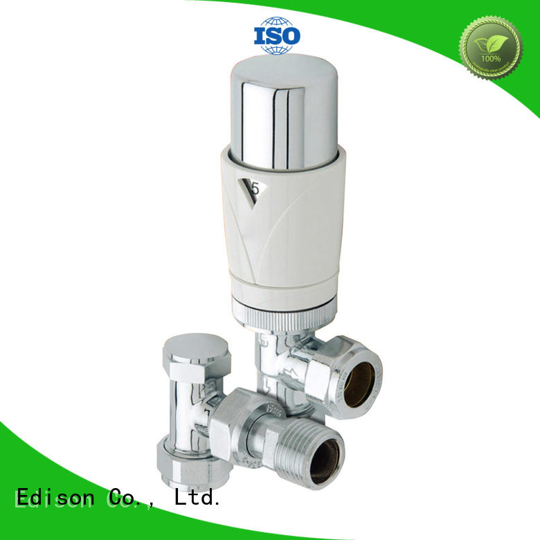 Edison durable electronic thermostatic radiator valves angle for shopping malls