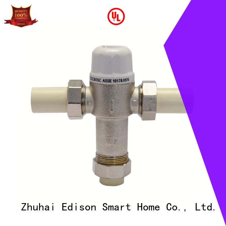 Edison high quality 2 inch thermostatic mixing valve valve for hotels