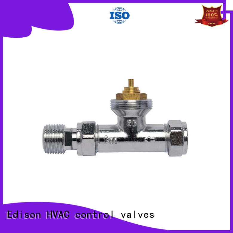 Edison knob chrome radiator valves series for shopping malls