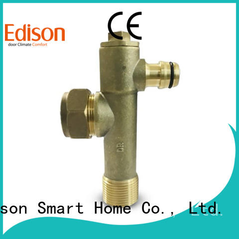 Edison bypass radiator drain off valve manufacturer for industry