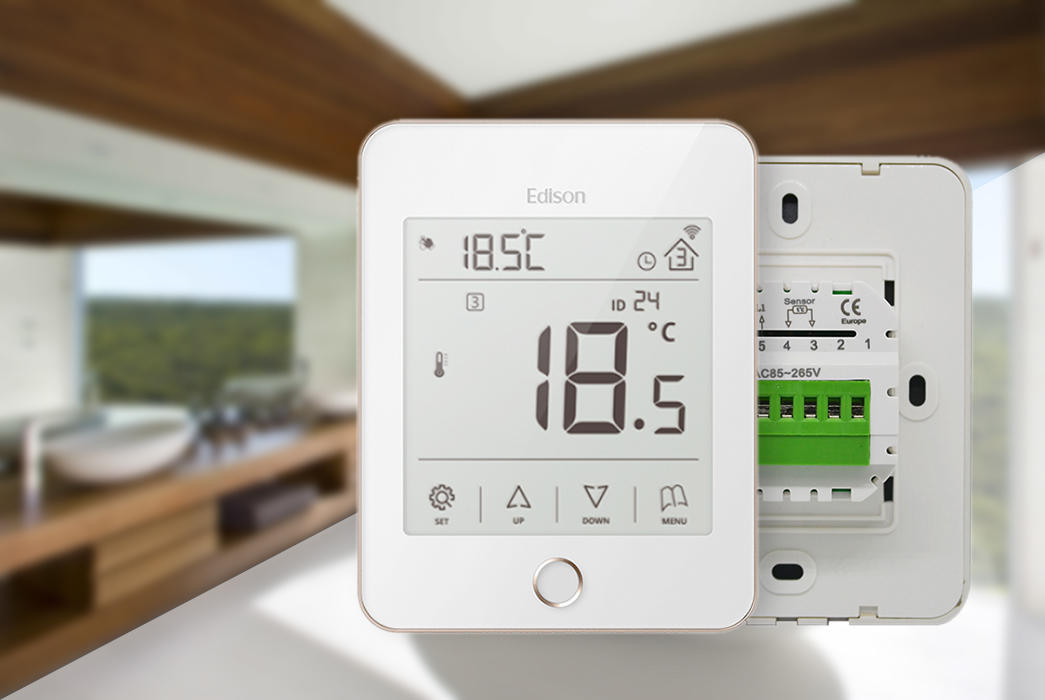 Edison stably heating room thermostat supplier for hardware store