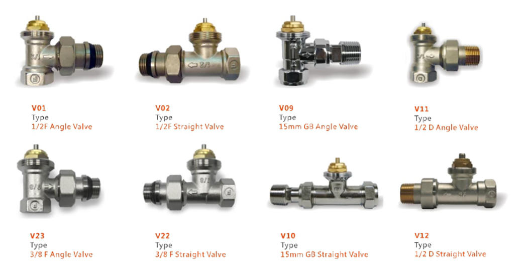 straight angled radiator valves supplier for hotels