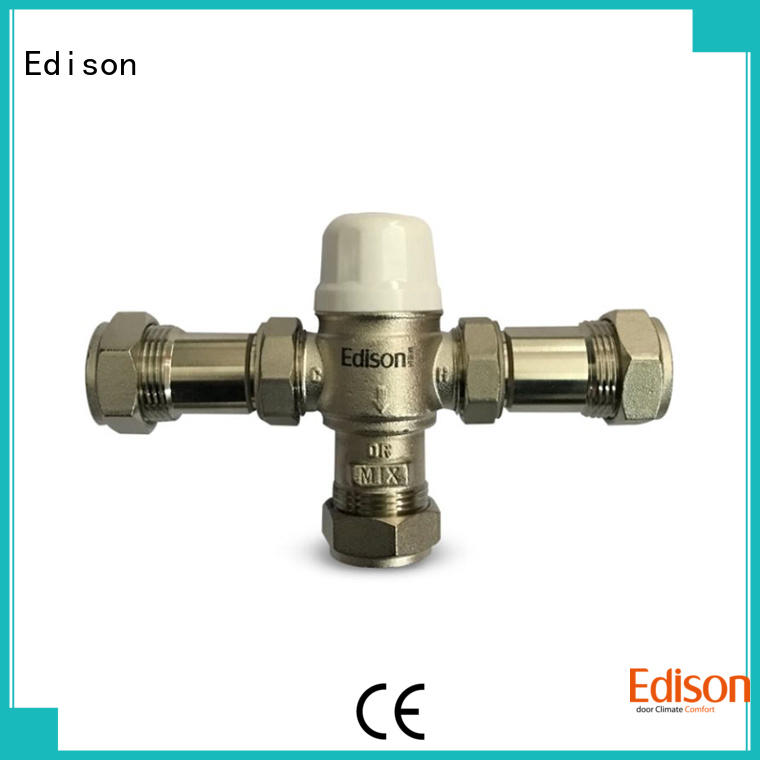 Edison boiler mixing valve function for hotels