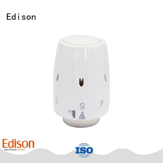 Edison straight wifi radiator valve manufacturer for shopping malls