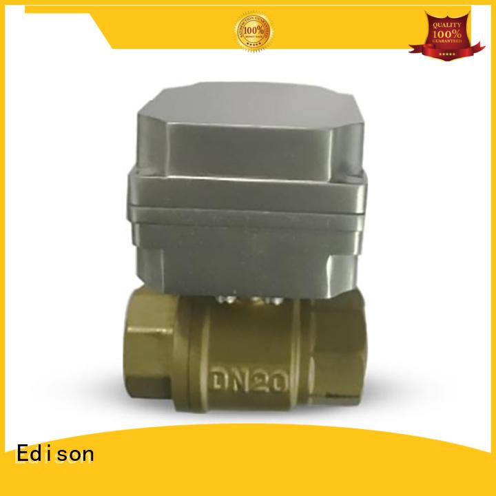 Edison motorized ball valve supplier for hardware store