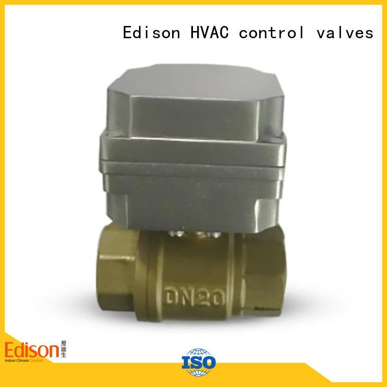 Edison stable motorised ball valve supplier for shop