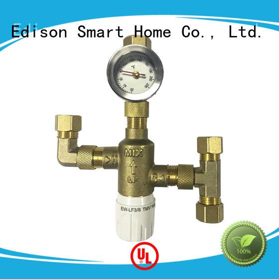 flow thermostatic valve function for shopping malls Edison