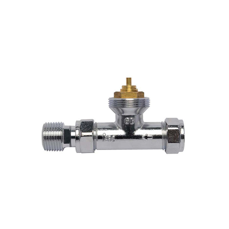 Edison knob chrome radiator valves series for shopping malls-2