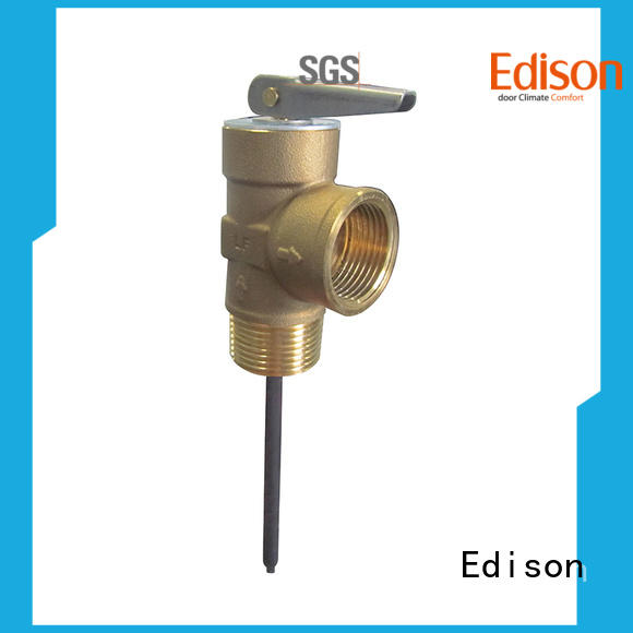 Edison durable water heater temperature pressure relief valve supplier for boilers