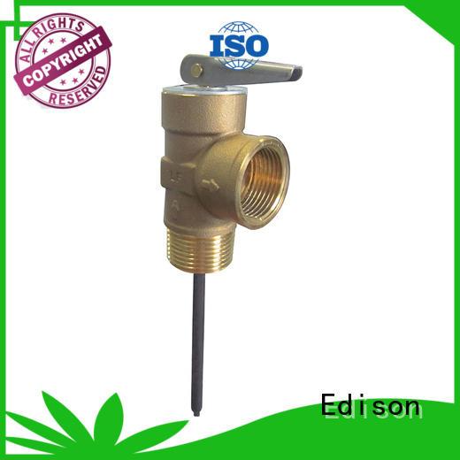 Brass temperature tp valve boilers Edison company