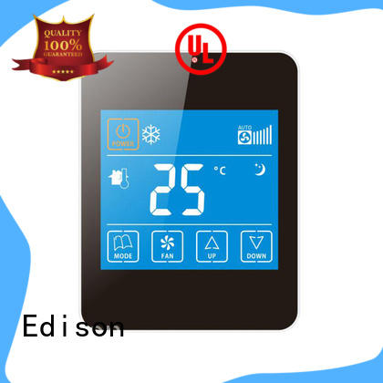 Edison high quality room thermostat manufacturer for shopping malls