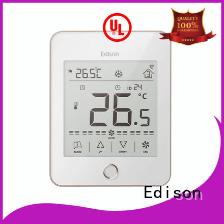 Edison high quality wireless thermostat screen for hotels