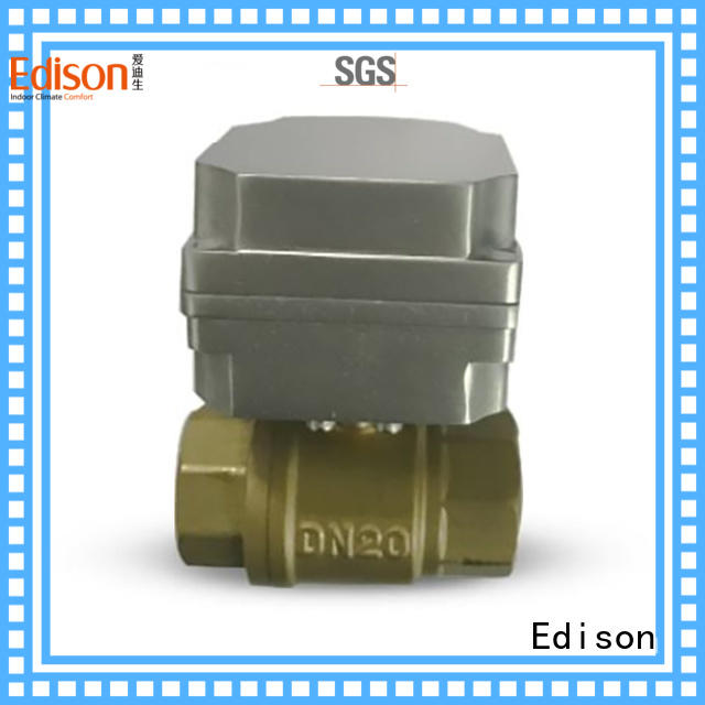 Edison motorized motorised ball valve with high-temperature resistance for shop