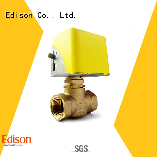 Edison Brand system brass motorized control valve stainless supplier