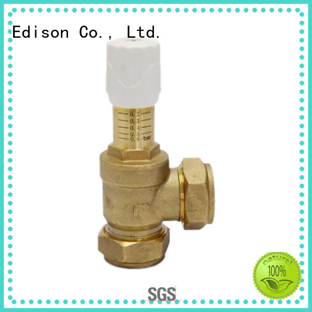 Edison quality pressure bypass valve drain for hardware store