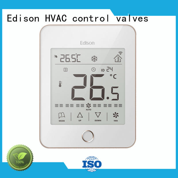 Edison durable touch thermostat screen for larger family homes