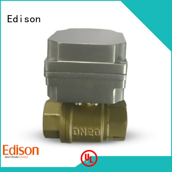 Edison ball motorized ball valve supplier for shop