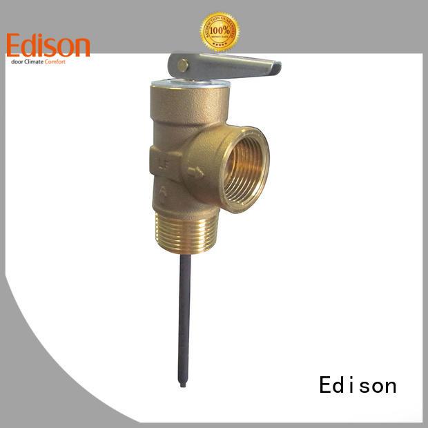 temperature and pressure relief valve Brass tp valve Edison Brand