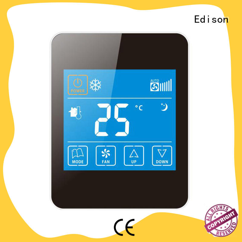 Edison durable ac thermostat screen for hotels
