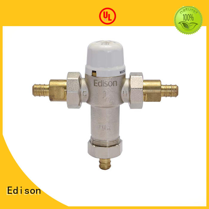 Edison flow temperature actuated mixing valve series for hardware store