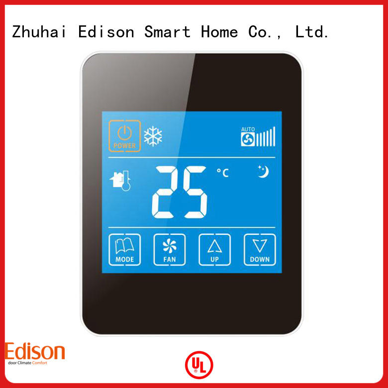Edison screen wireless thermostat supplier for hotels