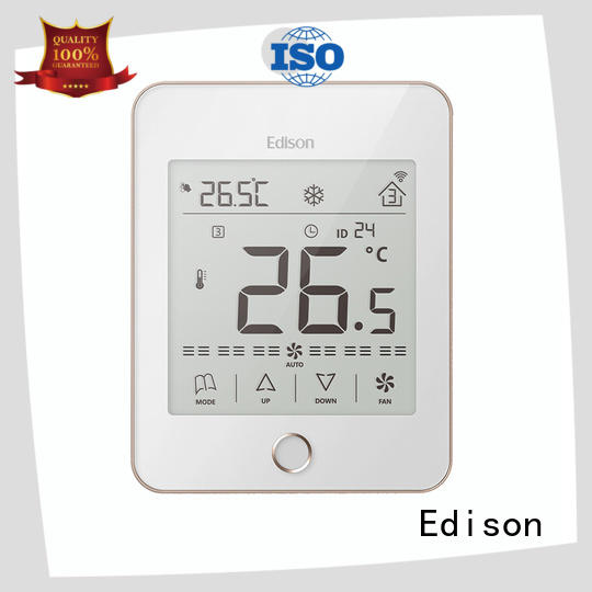 Edison screen wireless thermostat manufacturer for shopping malls