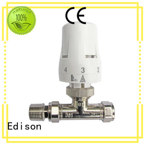 Edison thermostatic radiator control valve series for shopping malls
