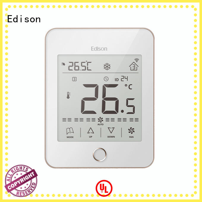 touch room thermostat supplier for hotels Edison