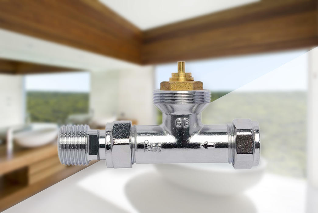 Edison knob chrome radiator valves series for shopping malls-1