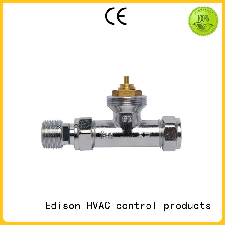 chrome radiator valves pack for shopping malls Edison