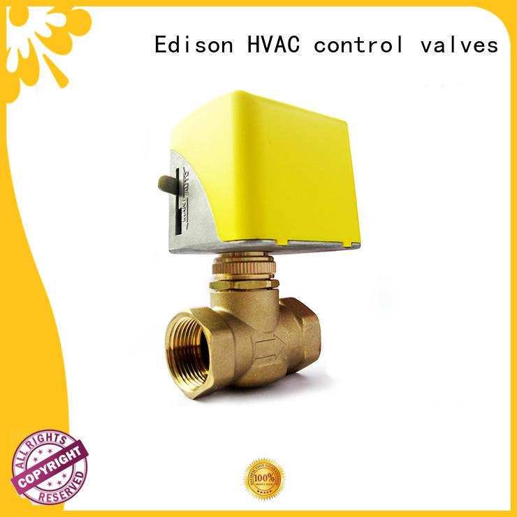 Edison energy-saving motorised valve wholesale for air conditioning