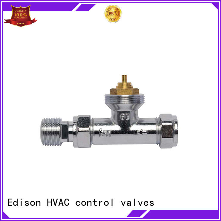 Edison straight chrome radiator valves supplier for hotels