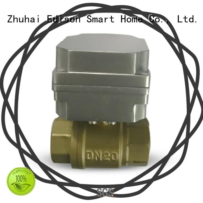 Edison durable 3 way motorized ball valve for industry